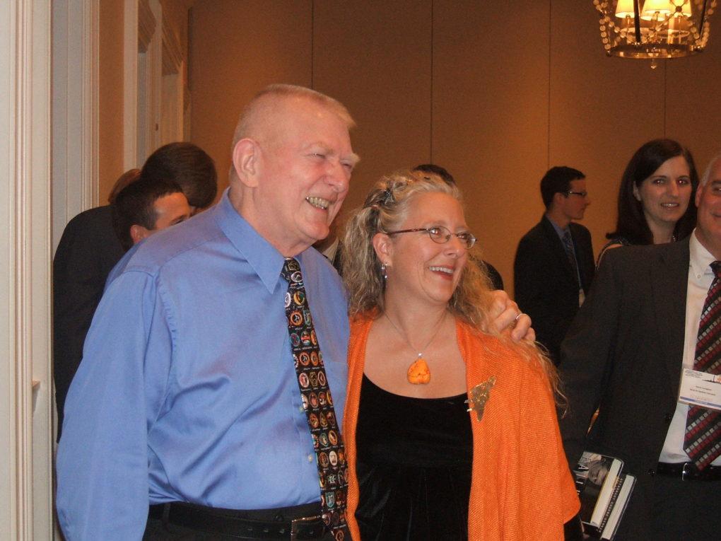 SFTE Fellow Carla Jackson poses with Gene Kranz at SFTE's 2010 Annual Symposium